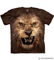 Big Face™ Roaring Lion - Adult Lion T-shirt - The Mountain® | Tam's Treasures
